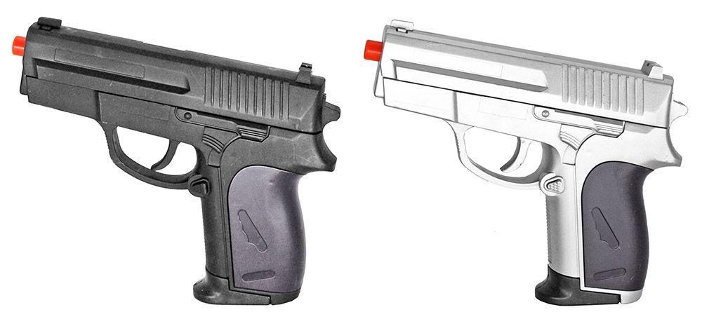 Dual P.618 Spring Airsoft Hand Guns