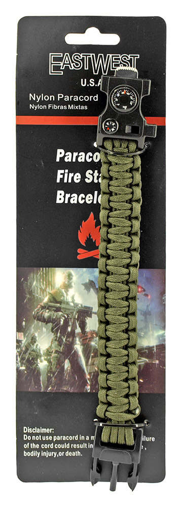 Master Sergeant Paracord Utility Bracelet  - Olive Green