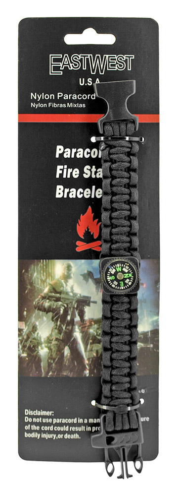 Private First Class Paracord Utility Bracelet  - Black