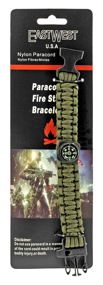 Private First Class Paracord Utility Bracelet  - Olive Green