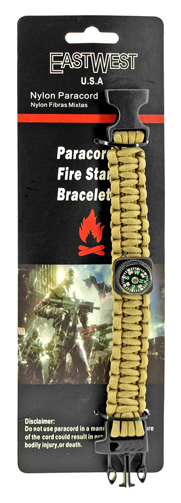 Private First Class Paracord Utility Bracelet  - Desert Tan