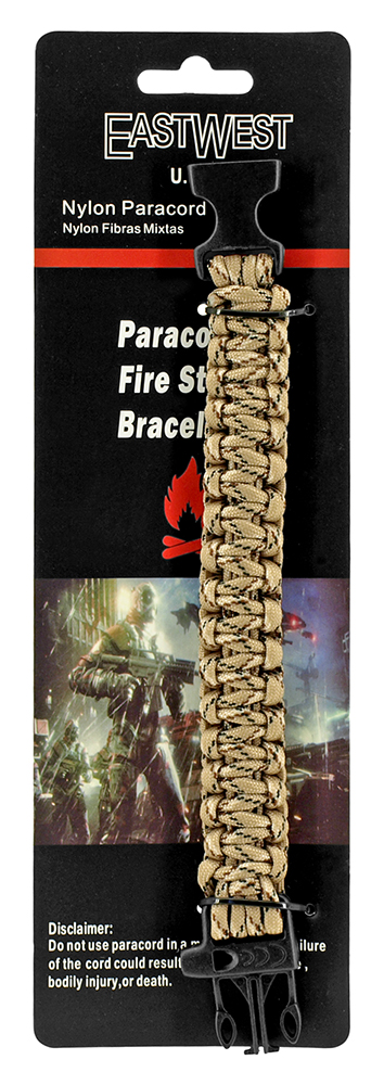 Private Paracord Utility Bracelet - Desert Digital Camo