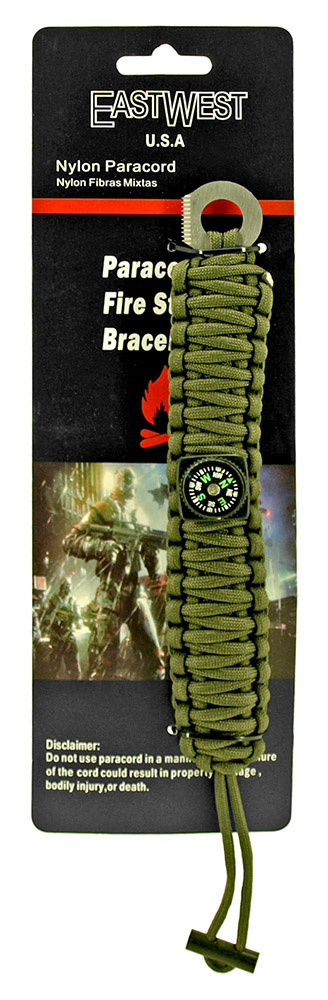 Staff Sergeant Paracord Utility Bracelet  - Olive Green