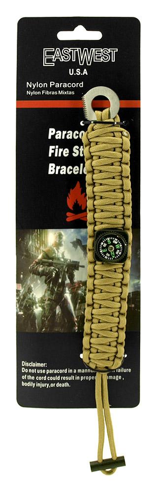 Staff Sergeant Paracord Utility Bracelet  - Desert Tan