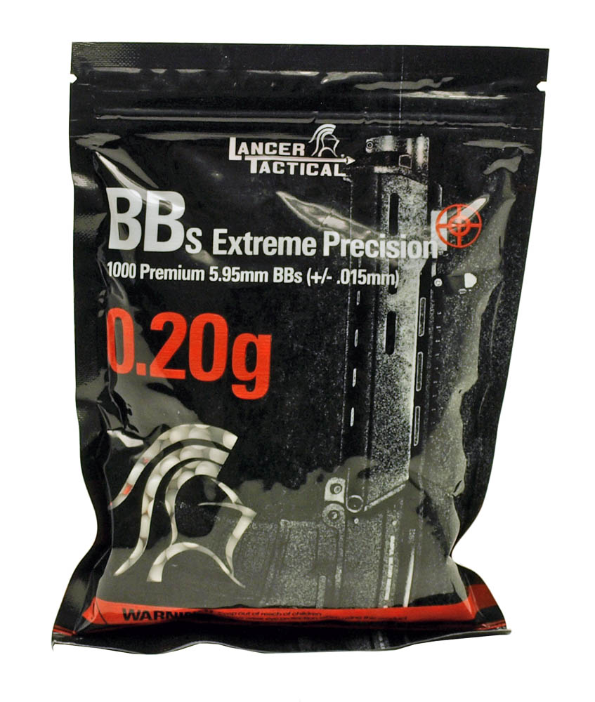 1,000-pc. Lancer Tactical Competition Grade .20g BB's