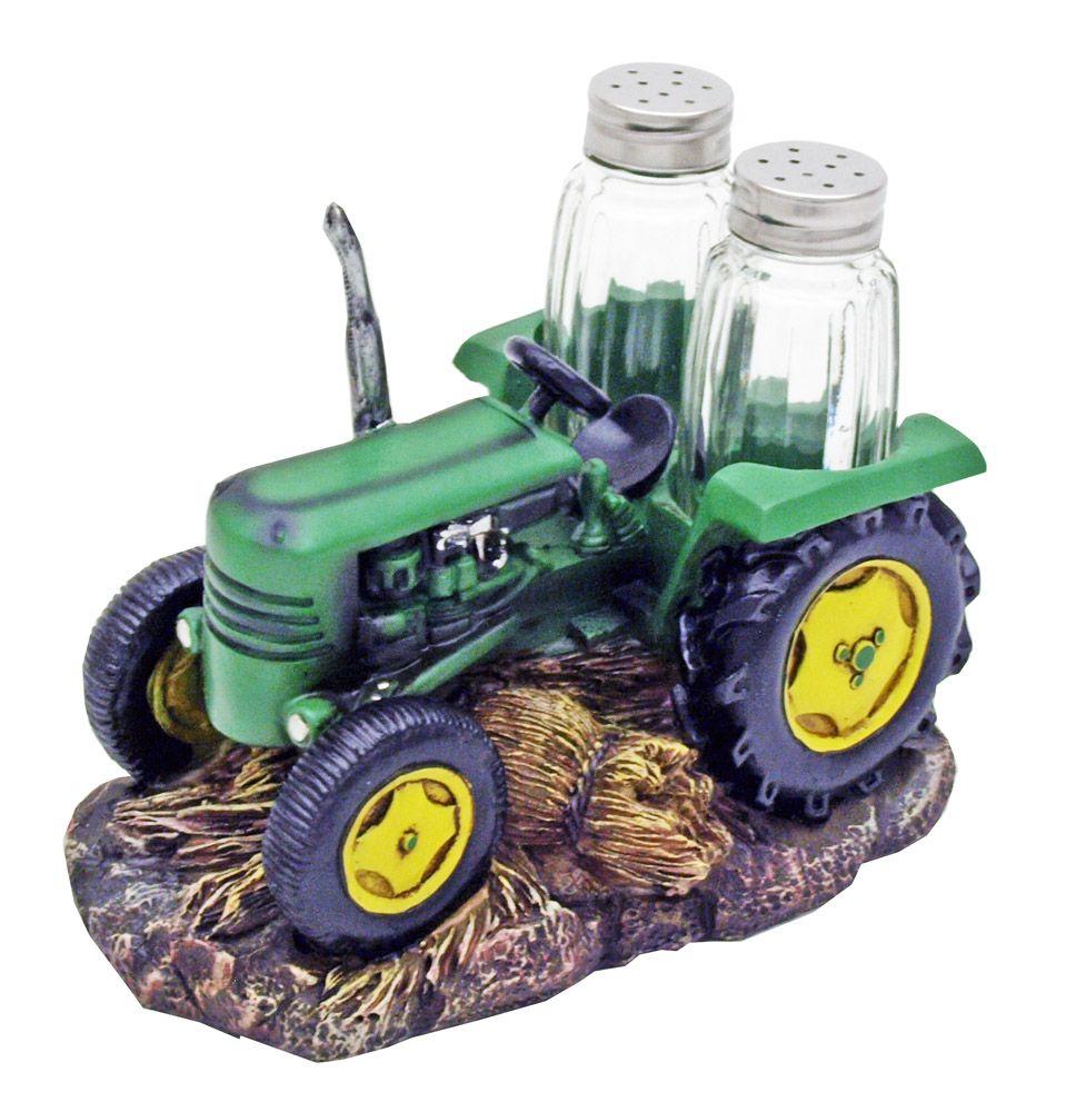 Harvest Seasons Tractor Salt & Pepper Shakers
