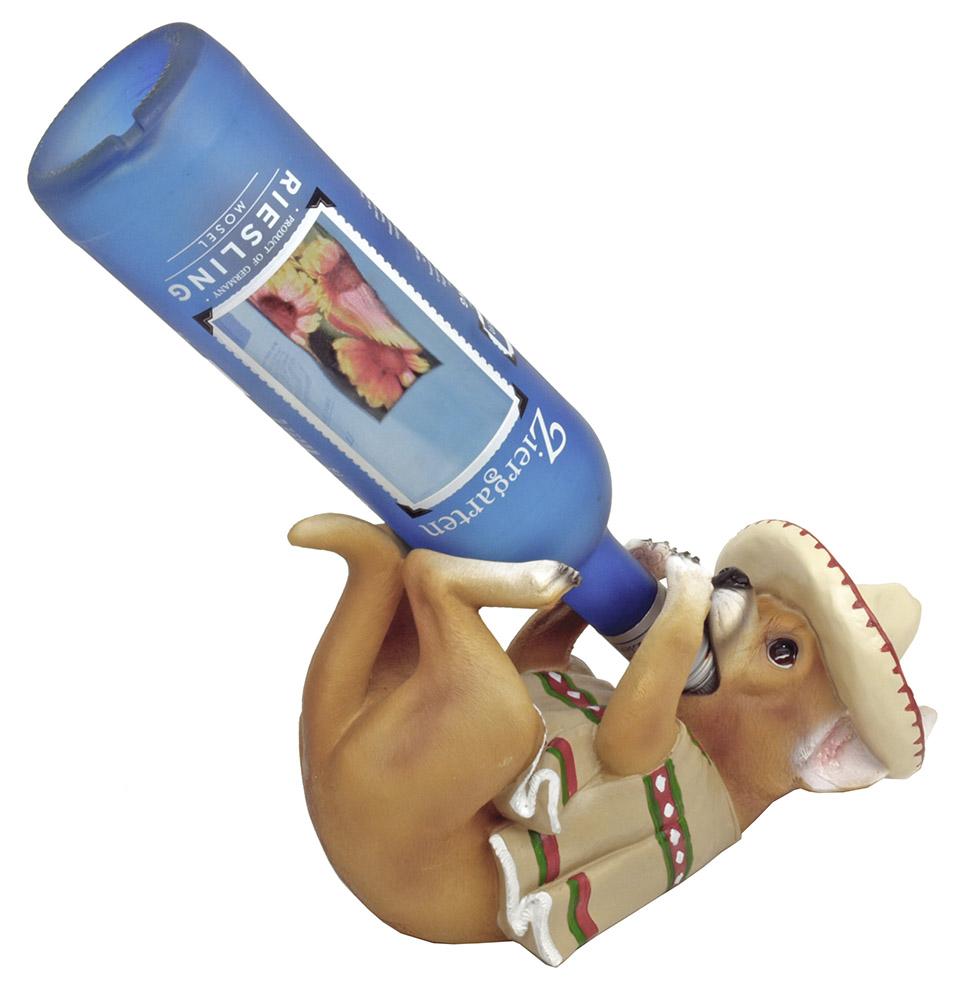 Poncho Vino Chihuahua Wine Bottle Holder