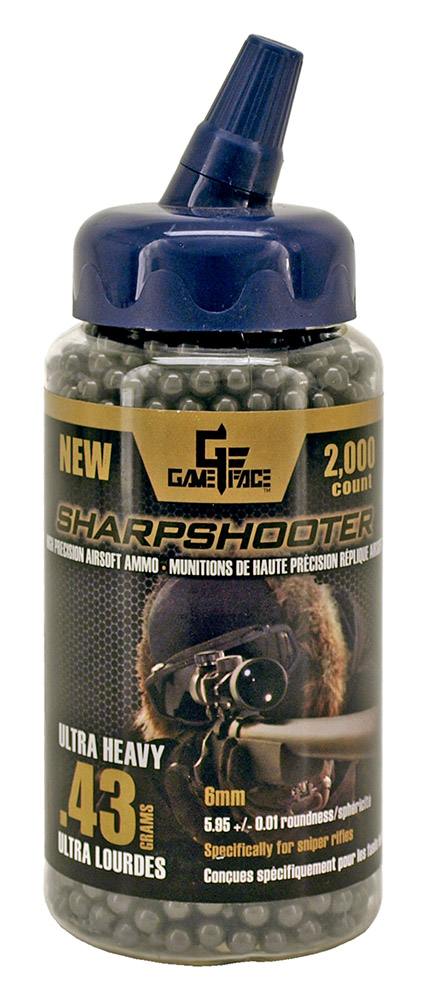 2,000 - ct. Heavy Duty Sharpshooter .43g Airsoft Ammo