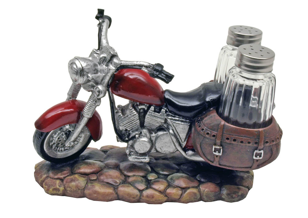 Spicy Rider Motorcycle Salt & Pepper Shakers