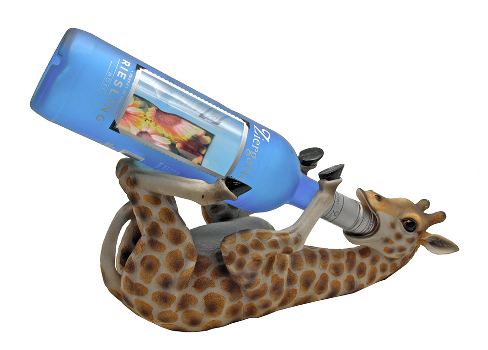 Tall Drink Giraffe Wine Holder