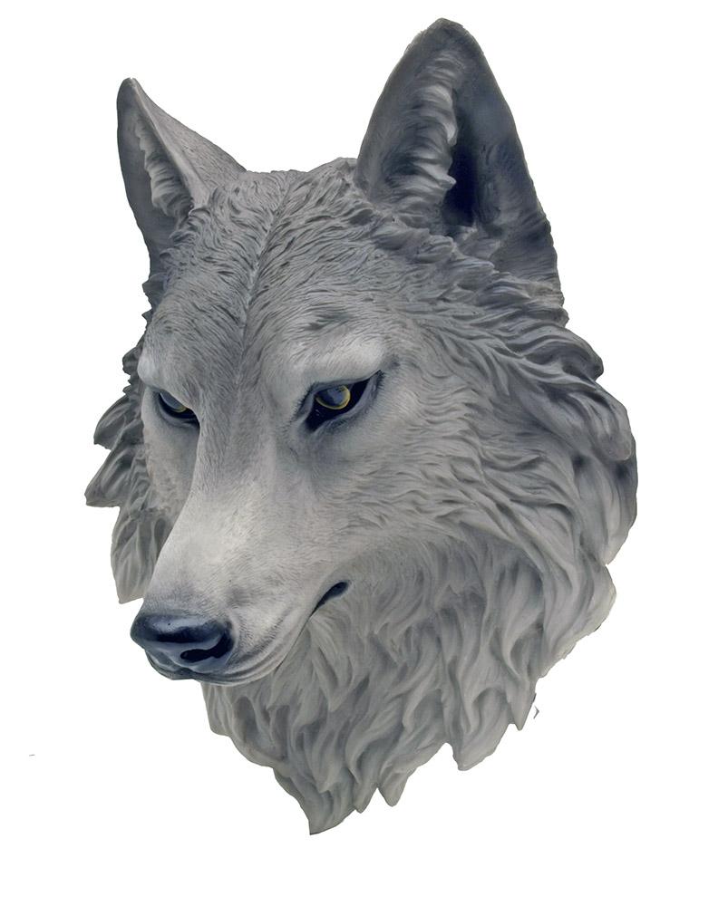 Remus Wolf Head Hanging Statue