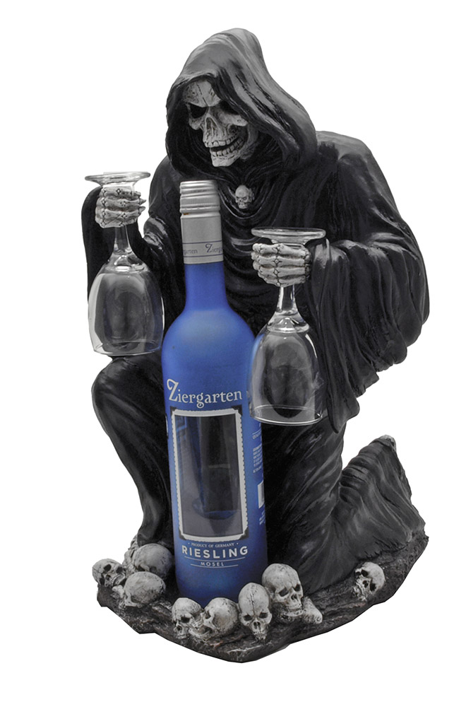 A Toast For Mortals Wine Bottle Holder With Cups