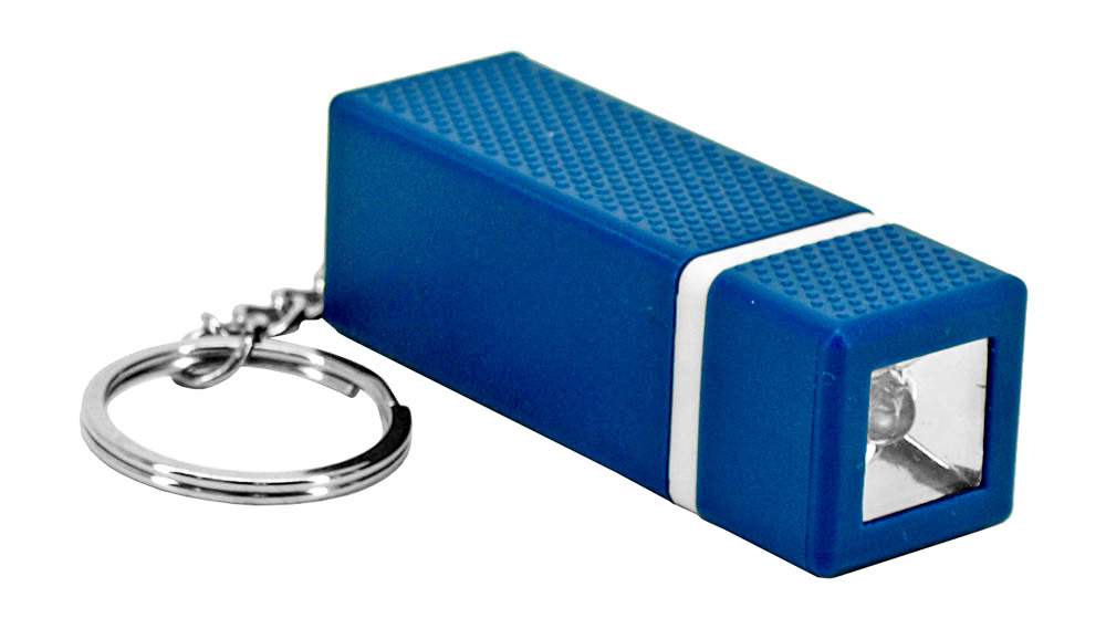 Rectangle Key Chain Flashlight - Assorted Colors