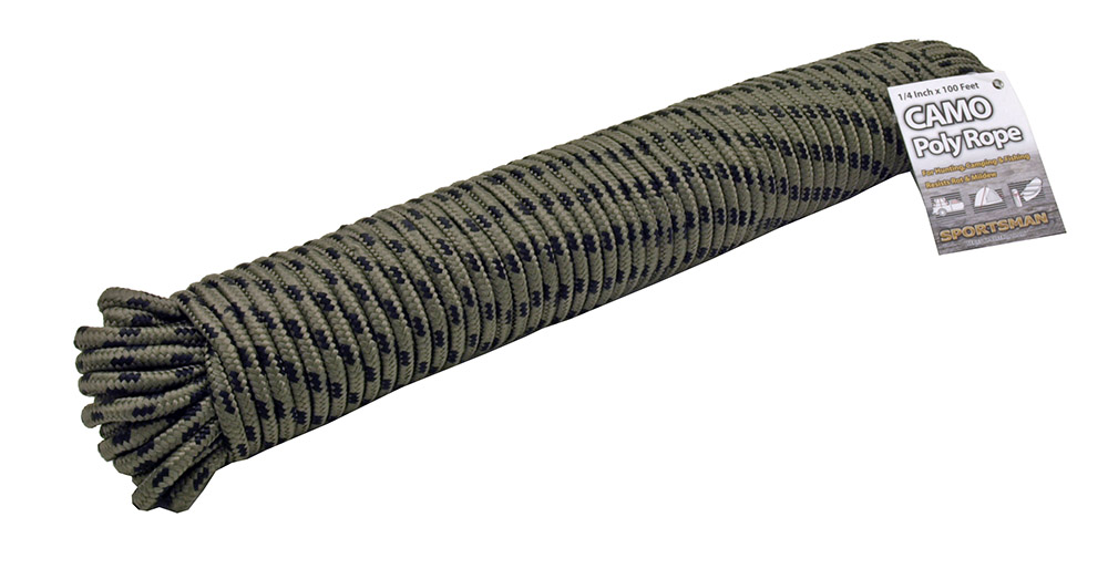 1/4 in x 100' Camo Poly Rope