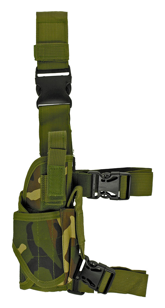 Delta Tactical Leg Holster - Woodland Camo