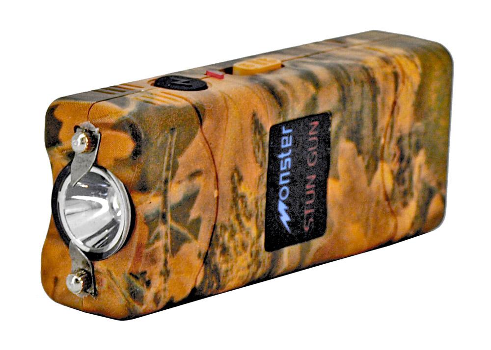 Rechargeable LED Flashlight Stun Gun - Woodland Camo