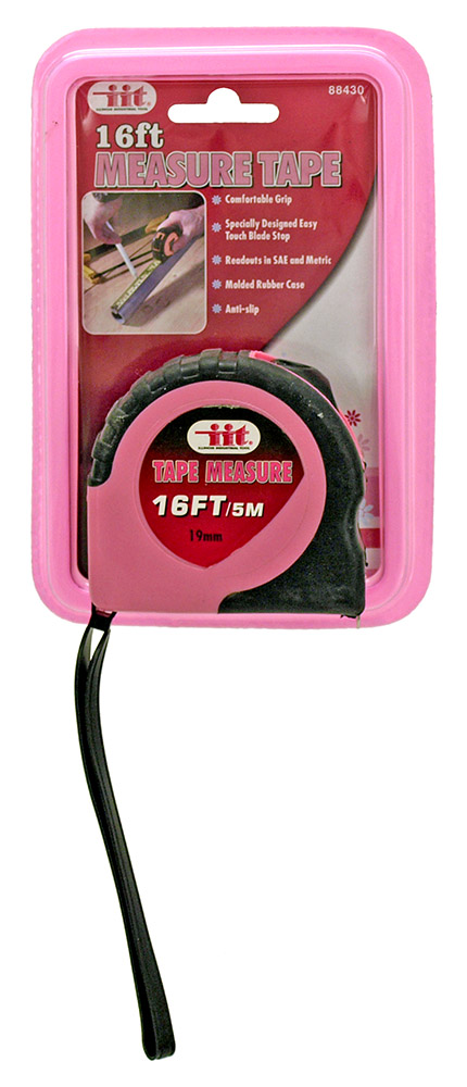 16' Tape Measure - Pink