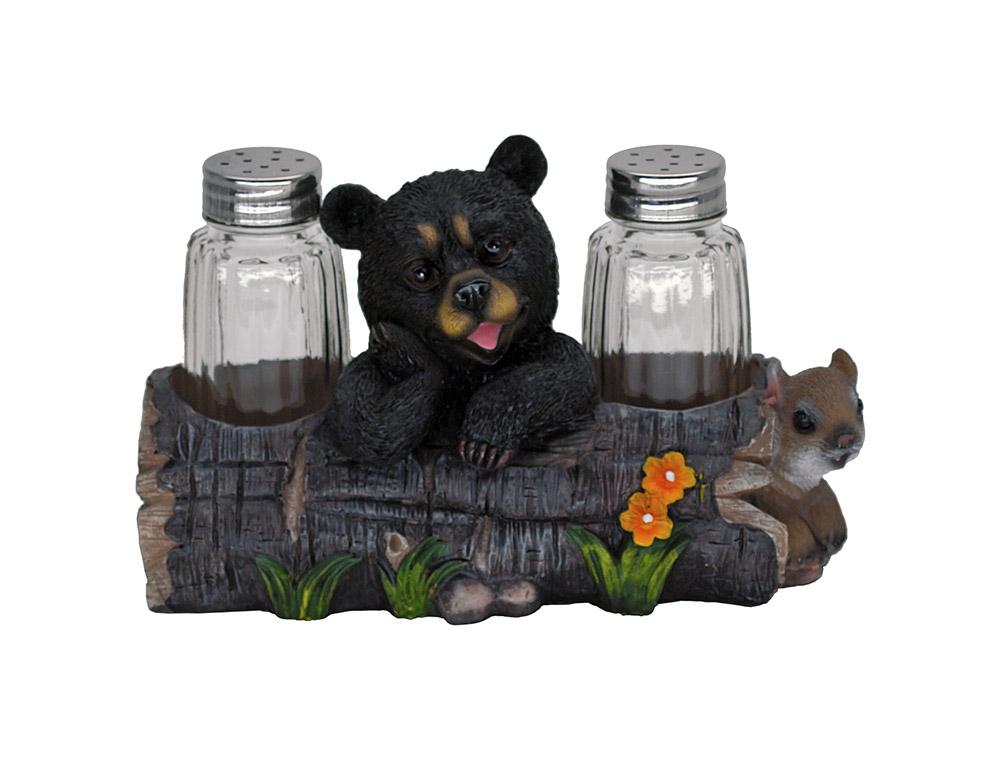 Smorgasbord Bear Salt and Pepper Shaker Holder