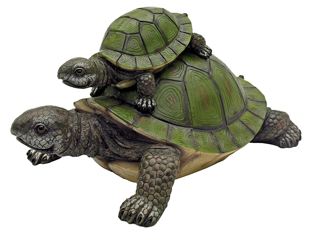 Piggy Back Ride - Turtle Statue