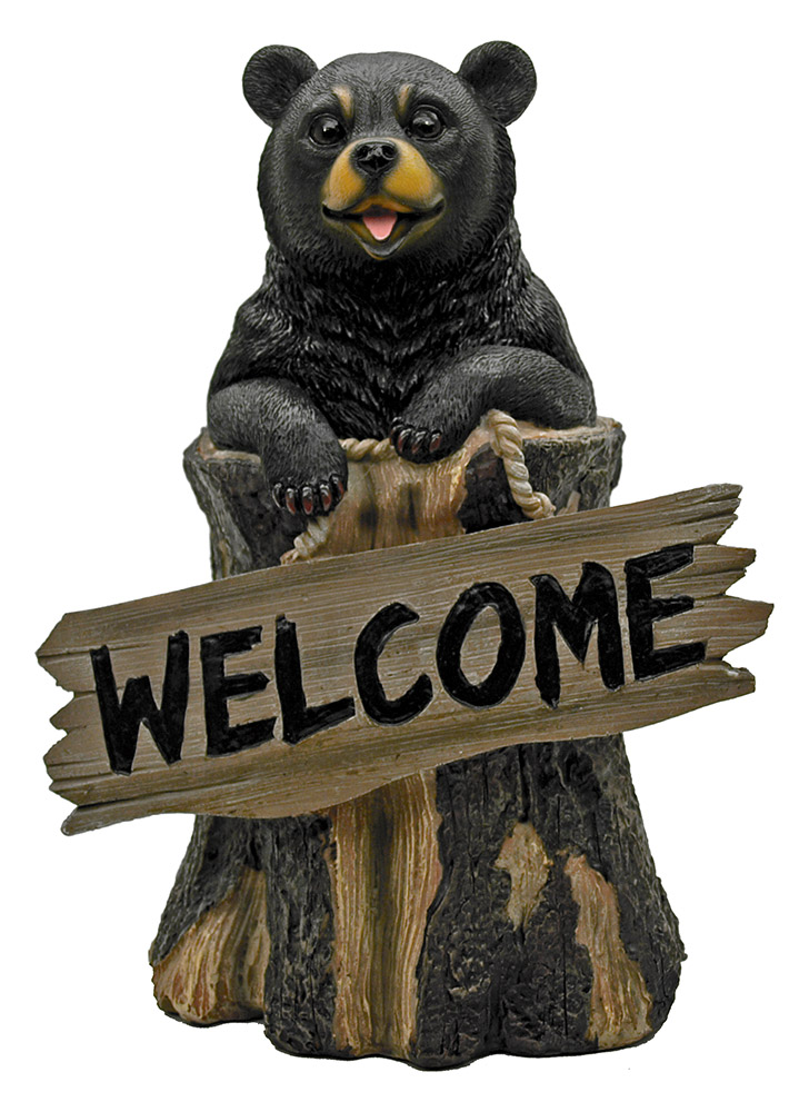 Deep Woods Welcome Bear - Bear Statue