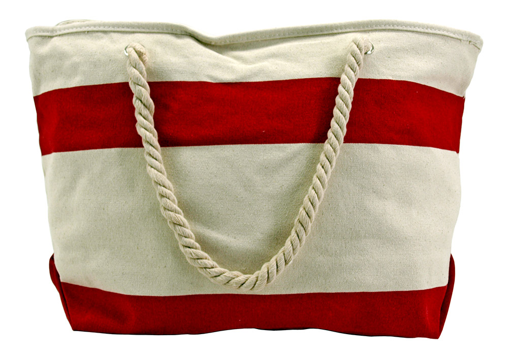 Rope Handle Beach Bag  - Assorted Colors