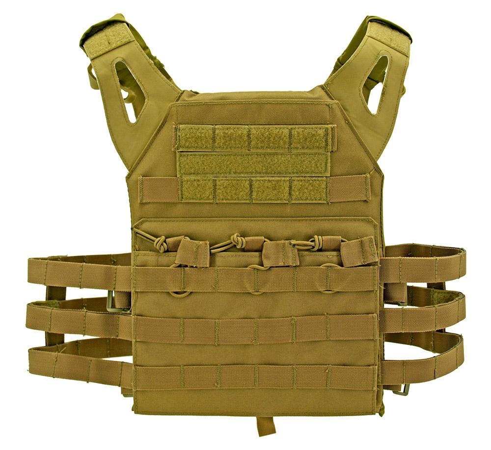 Junior Padded Tactical Vest - Tan
