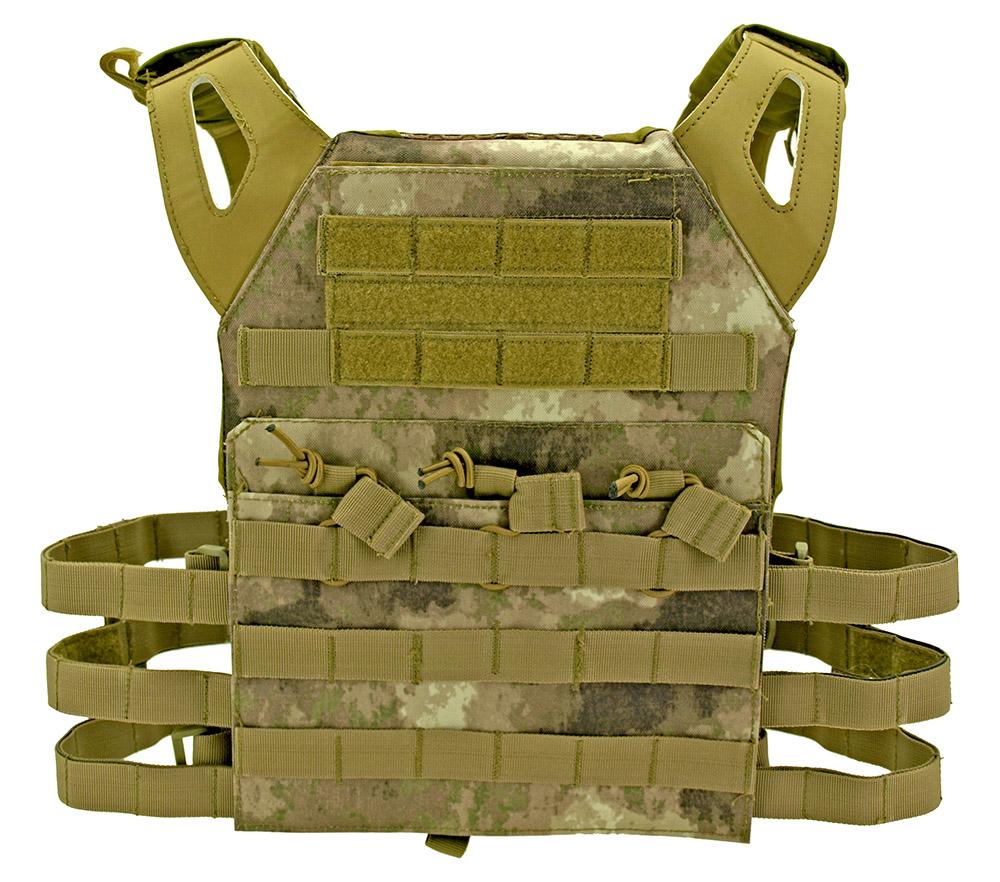 Junior Padded Tactical Vest - Desert AU Camo