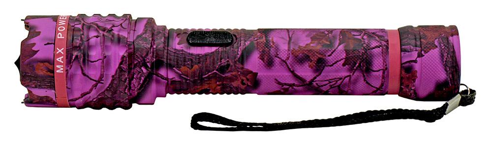 Delta Force Flashlight Stun Gun - Purple Camo