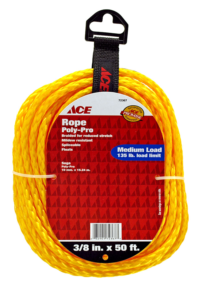 3/8 in x 50' Poly-Pro Rope