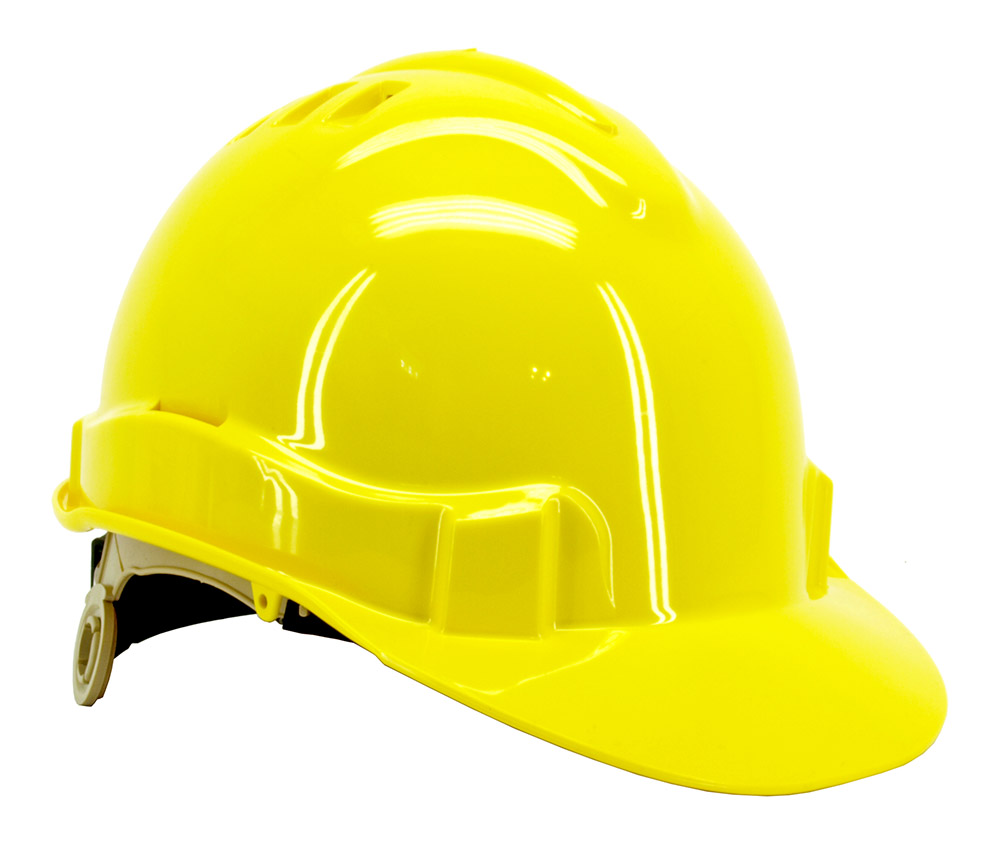 Vented Safety Helmet - Yellow
