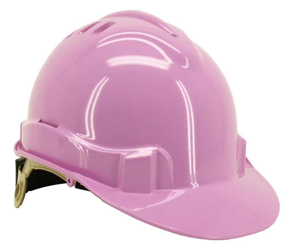 Vented Safety Helmet - Pink