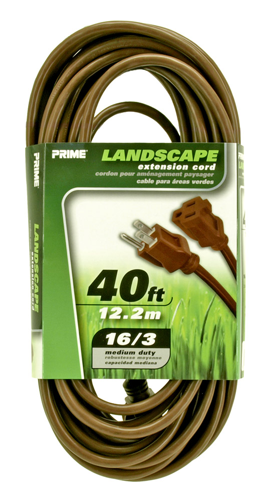 40ft. Landscape Extension Cord - Brown