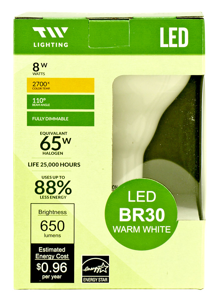 BR30 LED Light Bulb - 650 Lumens - 2700k