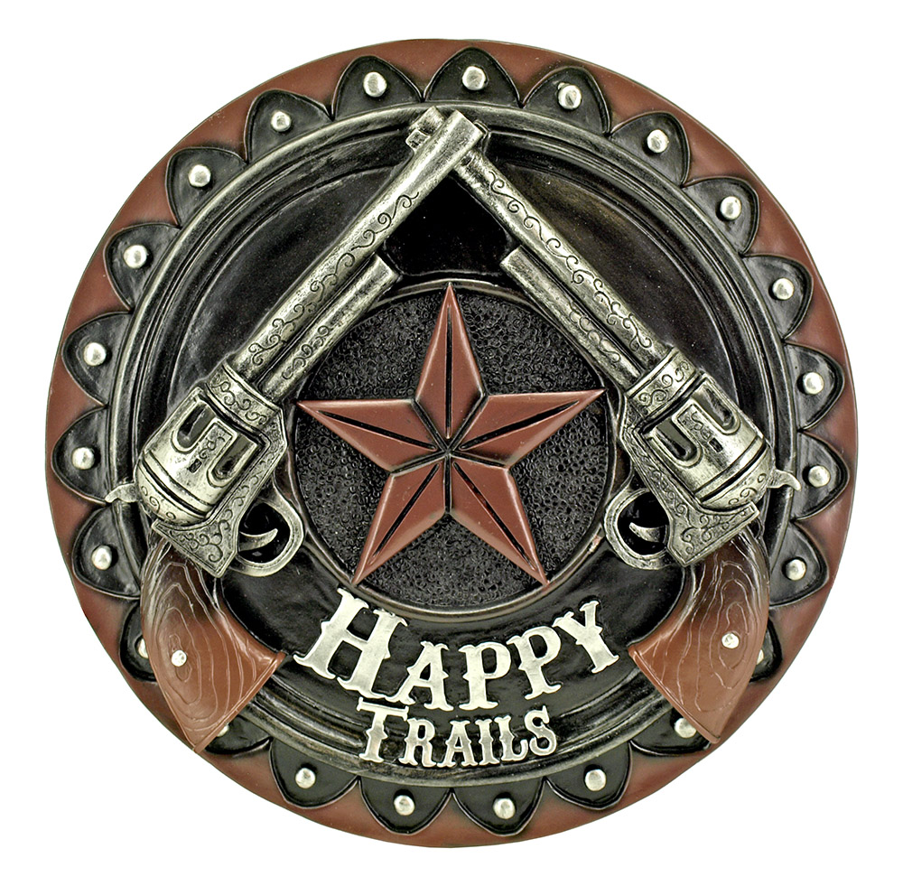 Roundup Welcome - Happy Trails Wall Mount