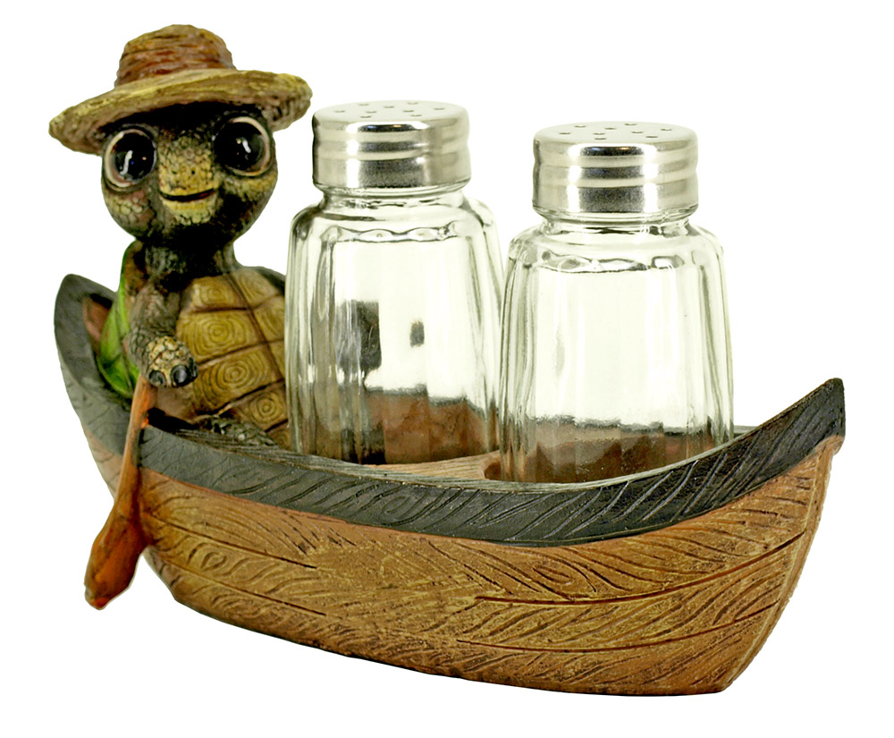 Don't Rock the Boat - Turtle Salt and Pepper Holder