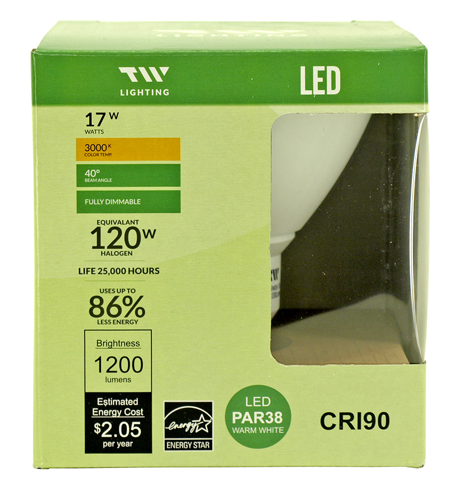 PAR38 LED Light Bulb - 1200 Lumens - 3000k
