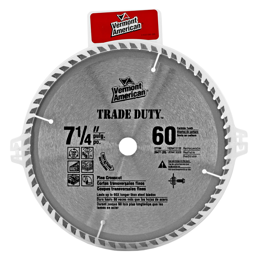 7.25 in Vermont American Circular Saw Blade with 60 Teeth
