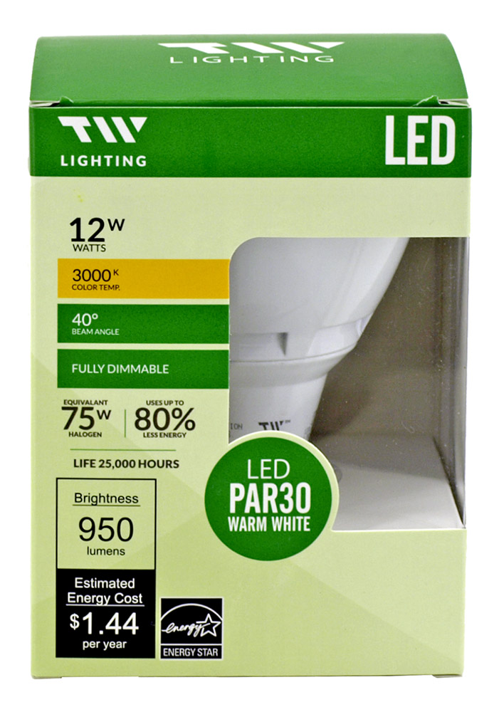 PAR30 LED Light Bulb - 950 Lumens - 3000k