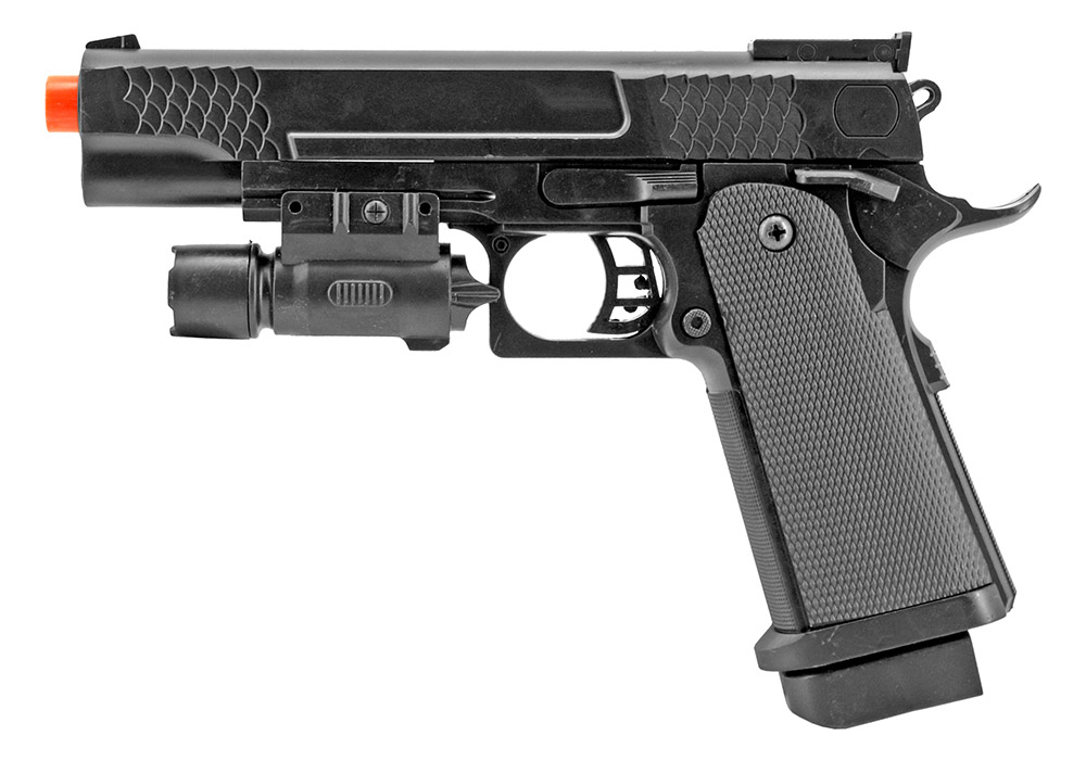 P2002B Spring Powered Airsoft Handgun - Black