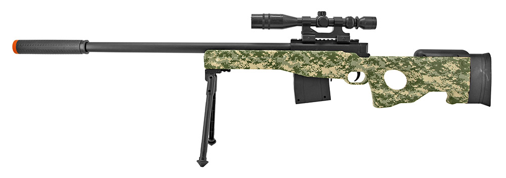 P2703A Spring Powered Airsoft Sniper Rifle - Digital Camo