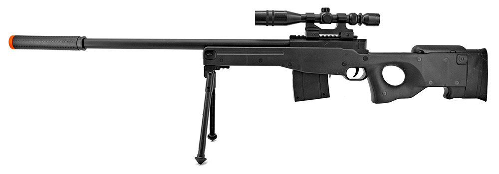 P2703B Spring Powered Airsoft Sniper Rifle - Black