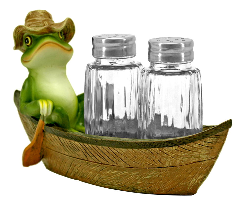 Croak Creek Canoe Salt and Pepper Shaker Holder