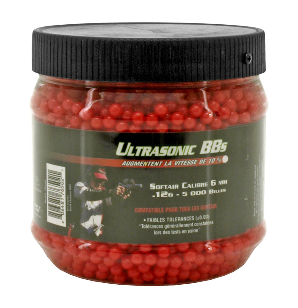 5,000 - pc. Ultrasonic .12g Airsoft BB's - Red