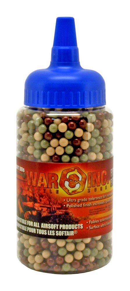 2,000 - pc. War Inc .12g Airsoft BB's - Camo