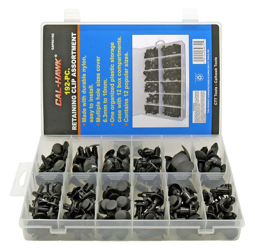 Cal-Hawk 192 - pc. Retaining Clip Assortment