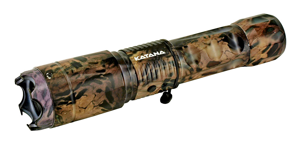 Guard Dog Stun Gun and Flashlight - Woodland Camo