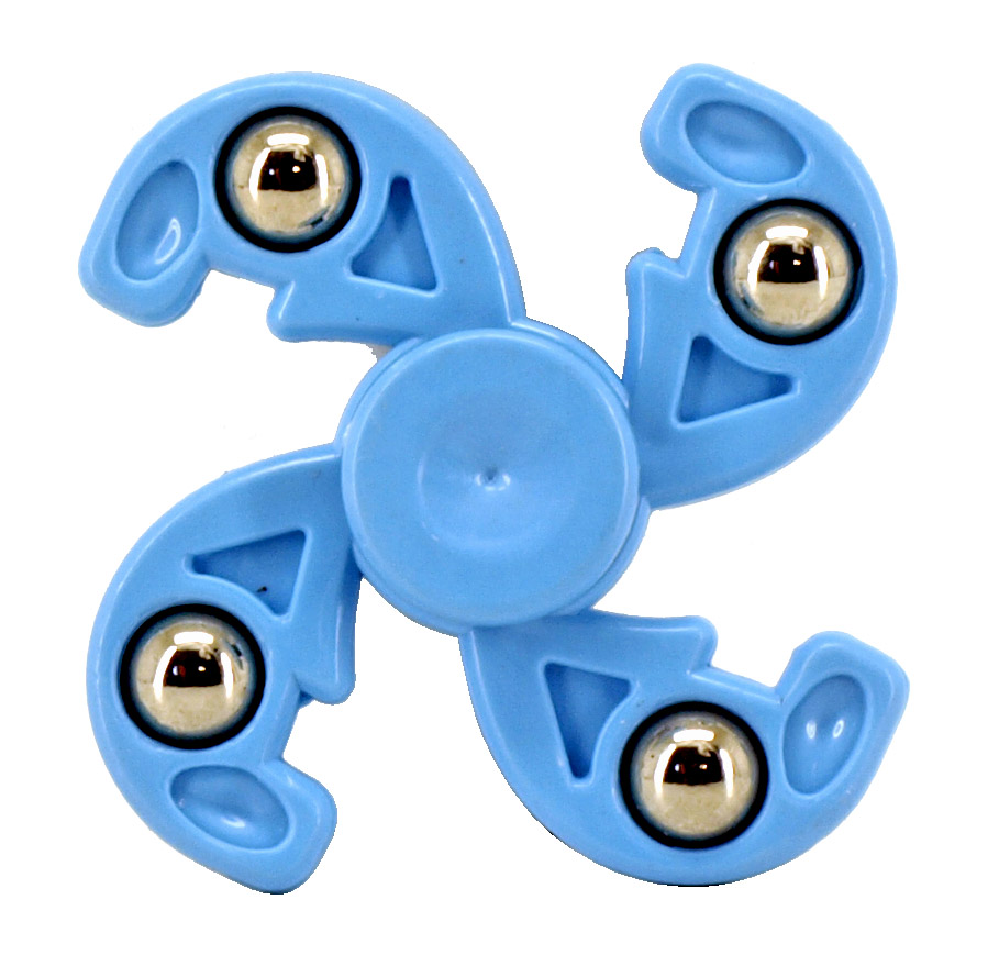 12 - pc. Fidget Spinners - Blue