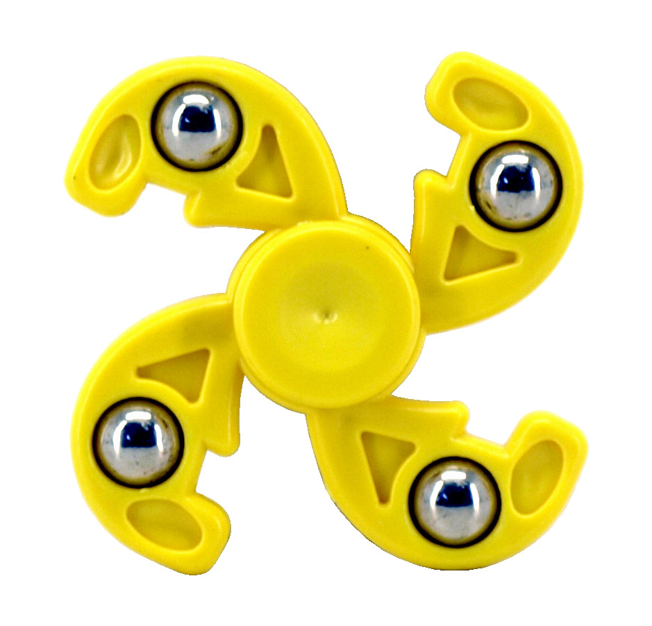 12 - pc. Fidget Spinners - Yellow