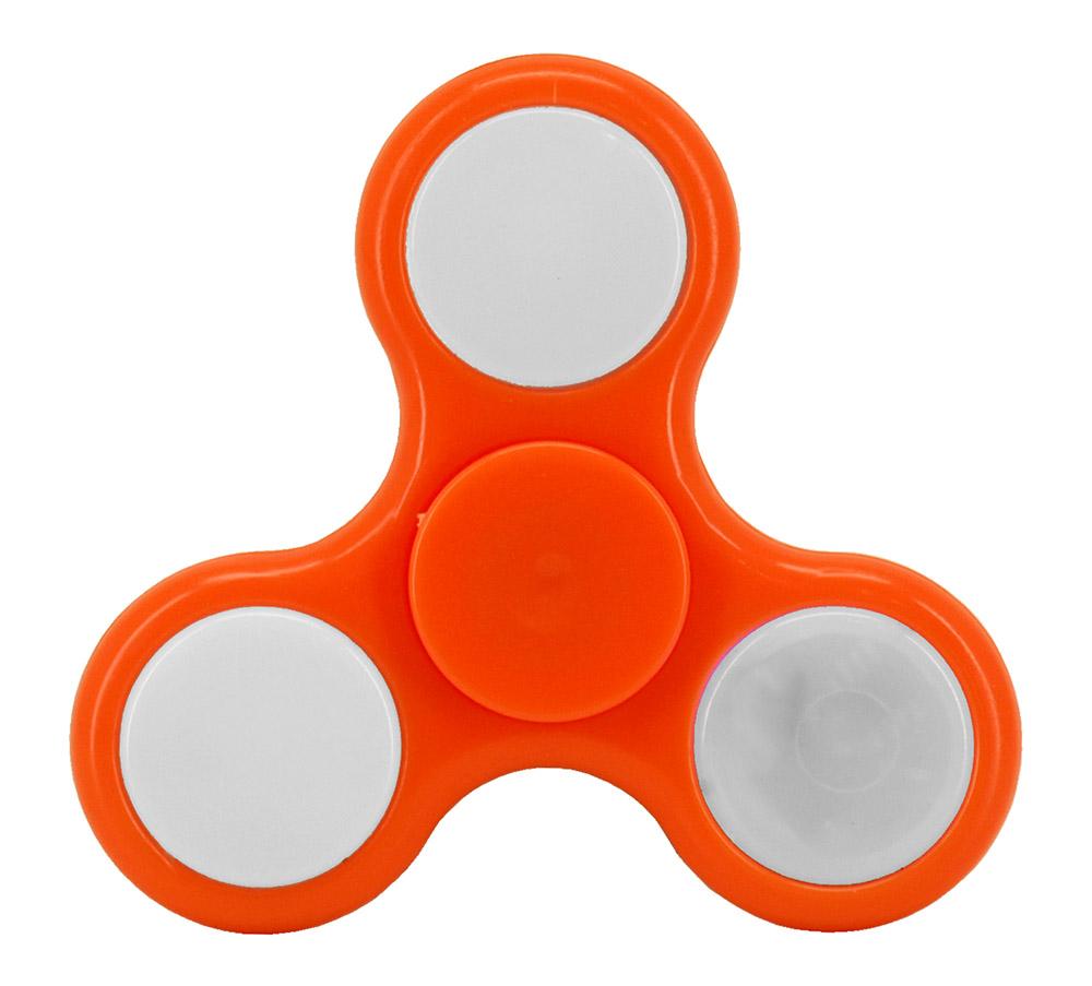 Light-Up Fidget Spinner - Orange