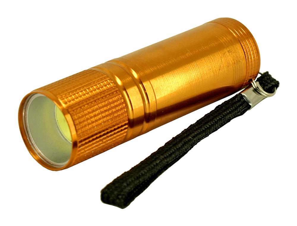 100 Lumen Aluminum COB Flashlight - Assorted Colors